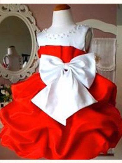 """Праздничное платье""""Бант"""" красное"""