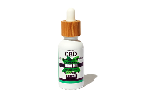 1500mg Peppermint Full Spectrum Tincture