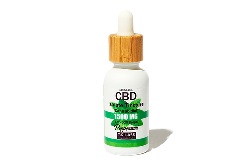 1500mg Peppermint CBD Isolate Tincture