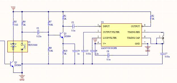 Símbolos de componentes eletrônicos em um esquemático digital de circuito; componentes eletrônicos ligados