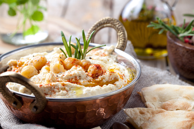10 Minutes Prep Vegan Flatbread & Hummus