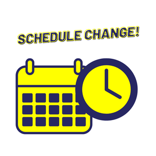 Changes to Monday Schedule