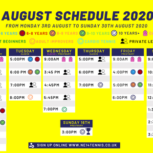 August Schedule is Live!