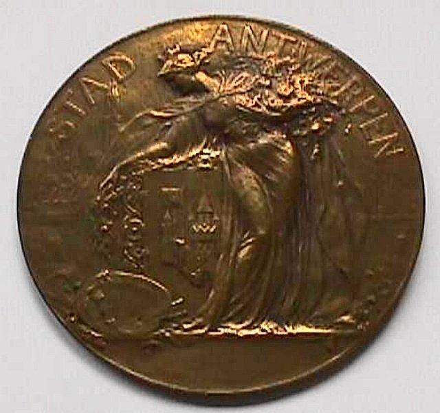 Medaille Karel Verlat, achterzijde