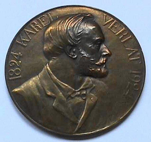 Medaille Karel Verlat, voorzijde