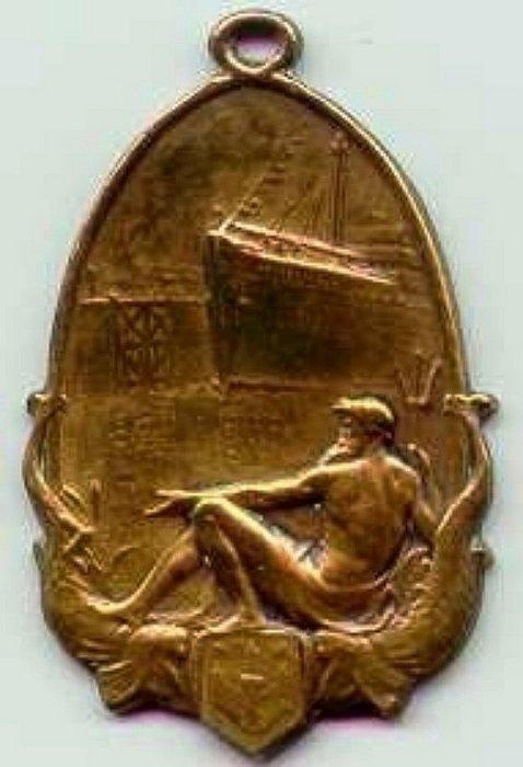 Medaille Kruisschanssluis, voorzijde