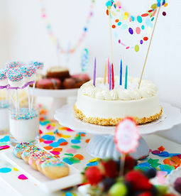 colorful birthday party