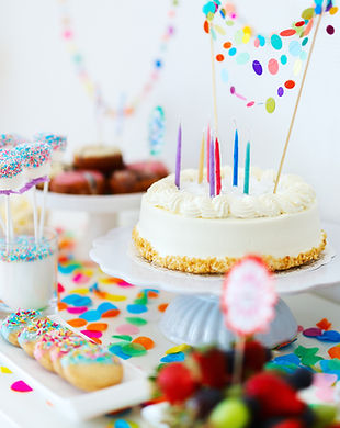 kleurrijke verjaardagsfeestje