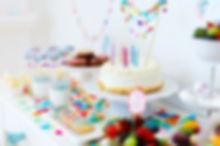 festa de aniversário colorido