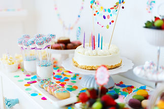 children's birthday party dessert table catering