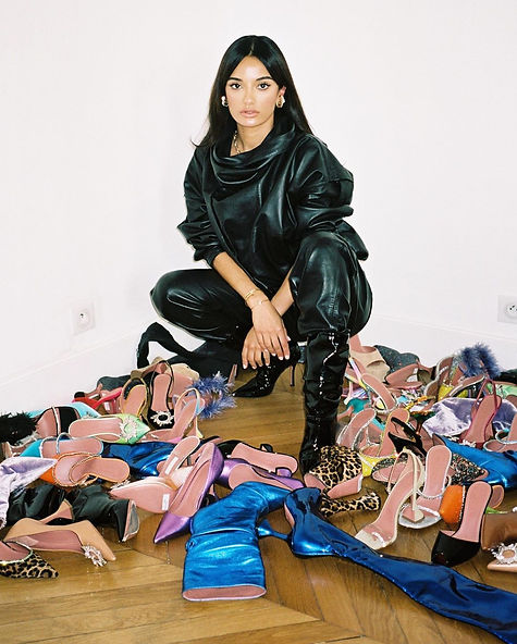 Amina Muaddi and her shoes