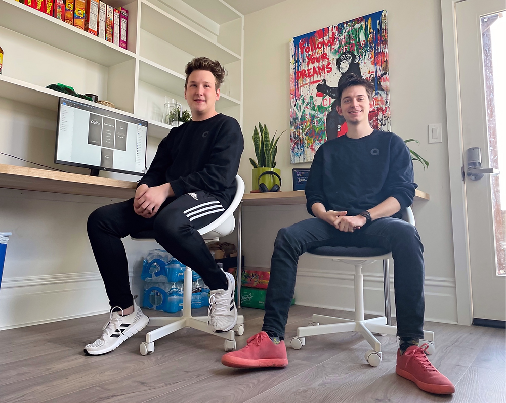 Coleman Oates and Nikolas Huebecker, co-founders of Quinn