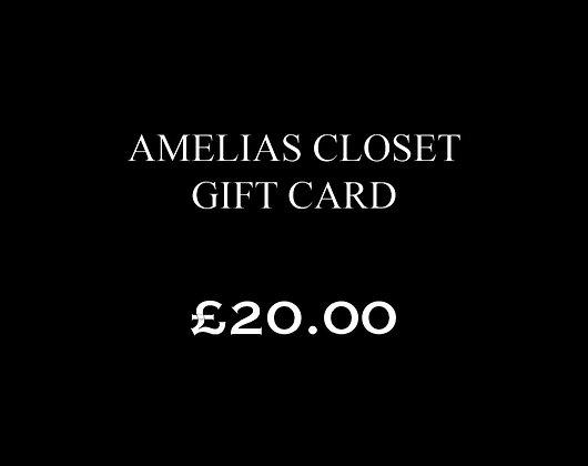 £20.00 Amelias Closet Gift Card