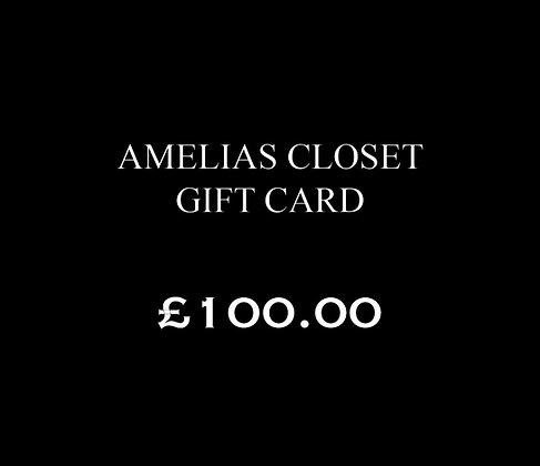 £100.00 Amelias Closet Gift Card