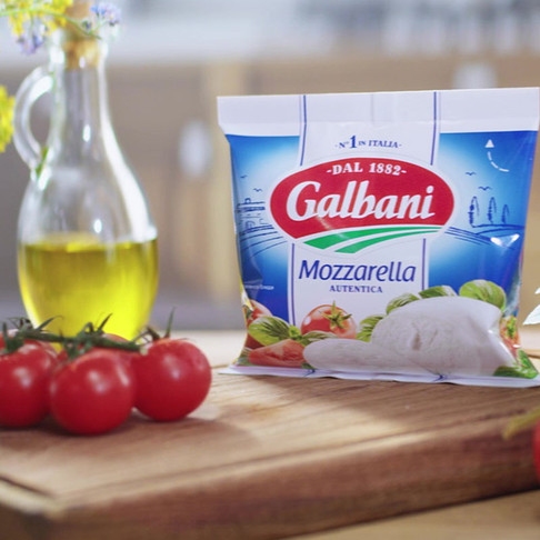 Сыр Galbani моцарелла. Продакшн table top рекламного ролика