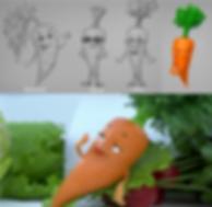 3d модел персонажа моркови