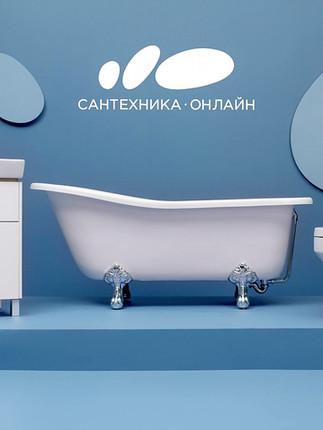 Минимализм, условность, унитаз в рекламе ритейлера Сантехника-онлайн