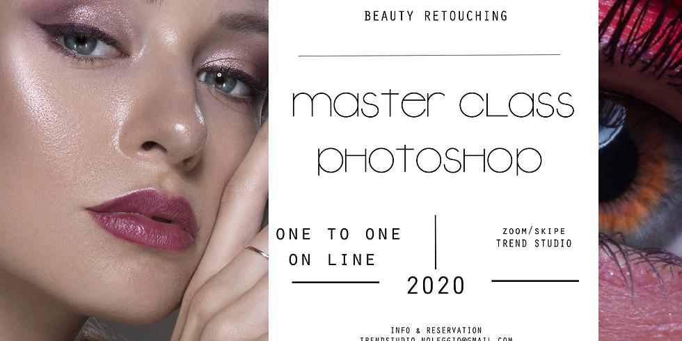 PHOTOSHOP Ritocco fotografia moda e beauty ON LINE (one to one)