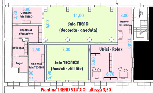 Piantina TREND STUDIO