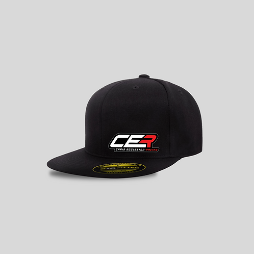 """CER Flat Bill Black """"210 Fitted"""" Hat"""