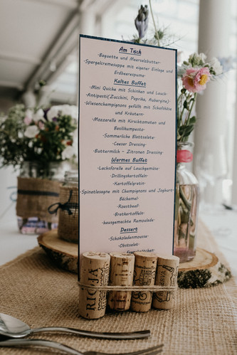 Wedding Menue - SoulMade Fotodesign