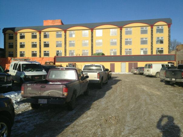 EIFS System at Coronation Inn For Shunda Construction in Red Deer