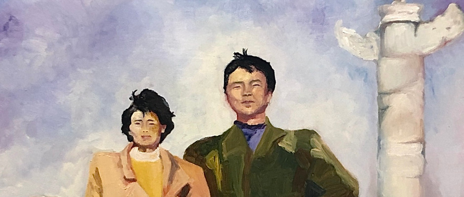 Xinghai Square in 1992, oil, 2019