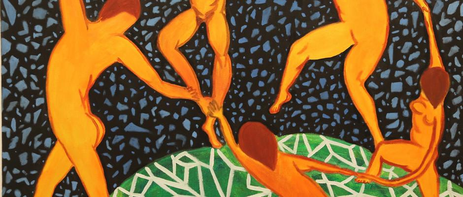 Matisse or Yayoi, acrylic, 2017