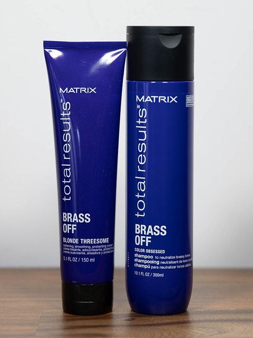 Matrix Brass Off Shampoo & Threesome Leave In Cream