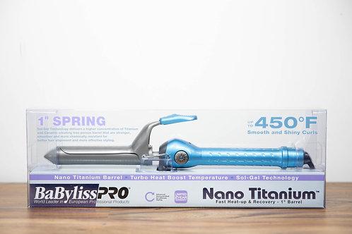"BaBylissPro Nano Titanium Spring Curling Iron 1"""