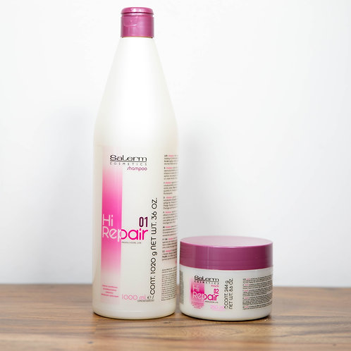 Salerm Hi Repair Shampoo 01, Mask 02