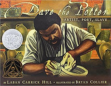 Books aout 19th century artists, Dave the Potter, Slave narratives