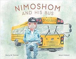 Books in Cree for children, picture books about Native Americans, Nimoshom and his bus