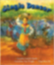 Books aboutthe Muscogee tribe for children. Jingle Dancer, Books about Powwows fo children.