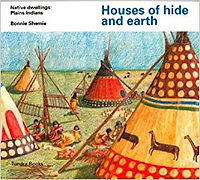 houses of hide and earth, plains indians, traditional homes