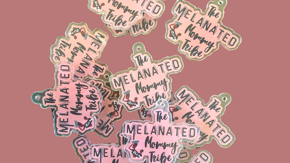 Melanated Mommy Keychain