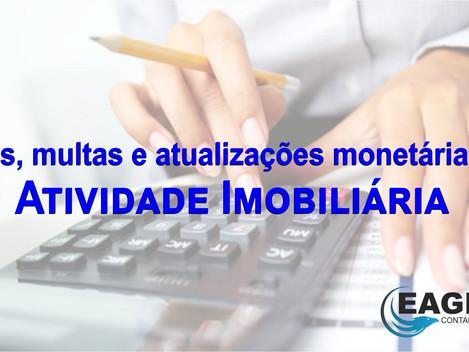 JUROS e MULTA de Mora - Variação Monetária - Atividade Imobiliária - Planejamento tributário - Como
