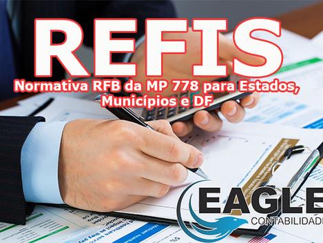 REFIS - Receita Federal Publica Instrução Normativa - Ainda para Estados, Municípios e DF