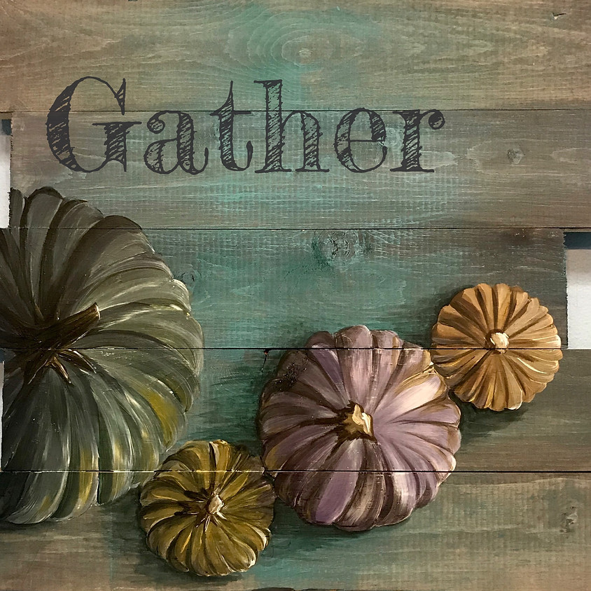 """""""Gather"""" - Wood Pallet - Customize your phrase"""