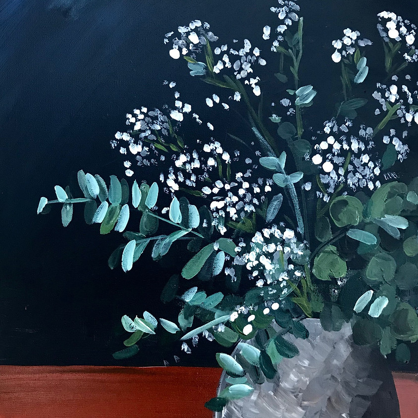 """Lovely Eucalyptus"" Acrylic Painting"