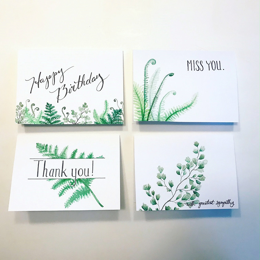 Ferns - Water Color Gift Cards