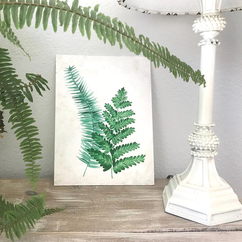 """Fresh Ferns"" - Acrylic Painting"