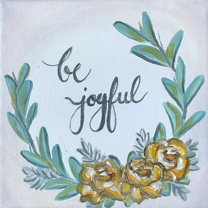 """Joyful wreath"" painting"