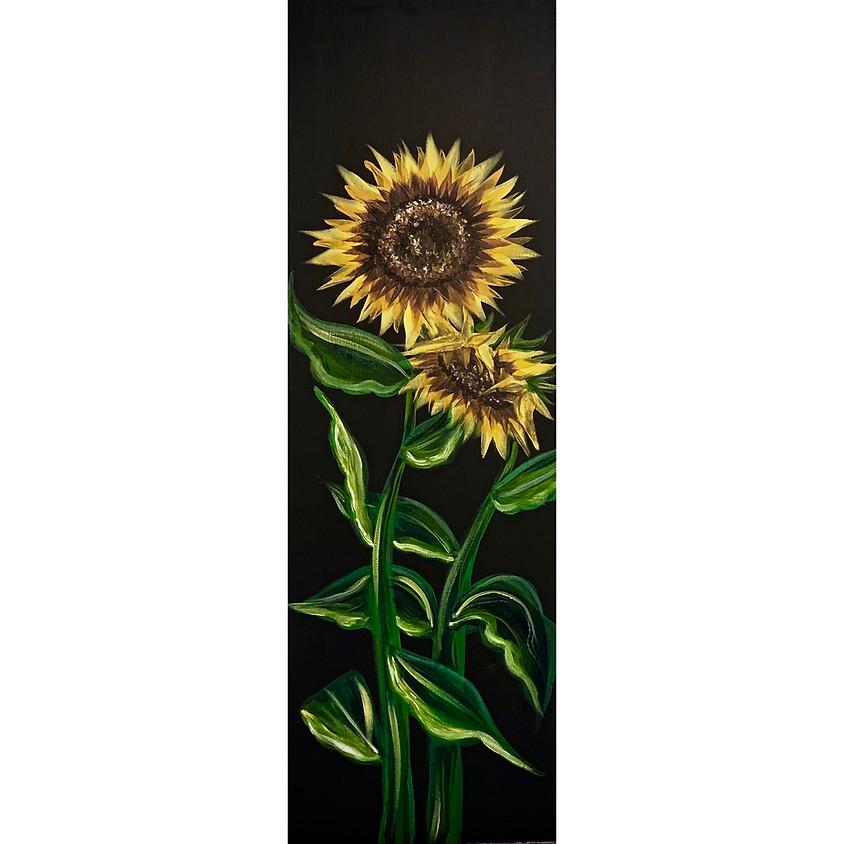 """Golden Sunflowers"" Painting"