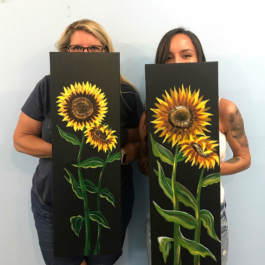 """""""Sunflowers"""" - Large Acrylic Painting"""