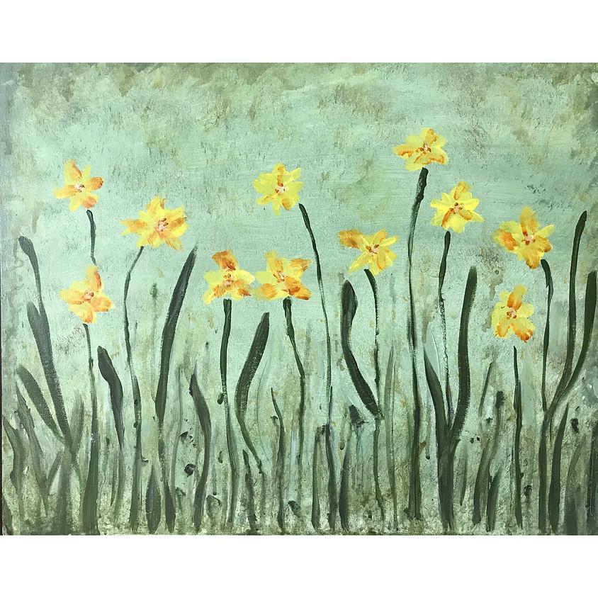 """Dancing Daffodils"" Painting"