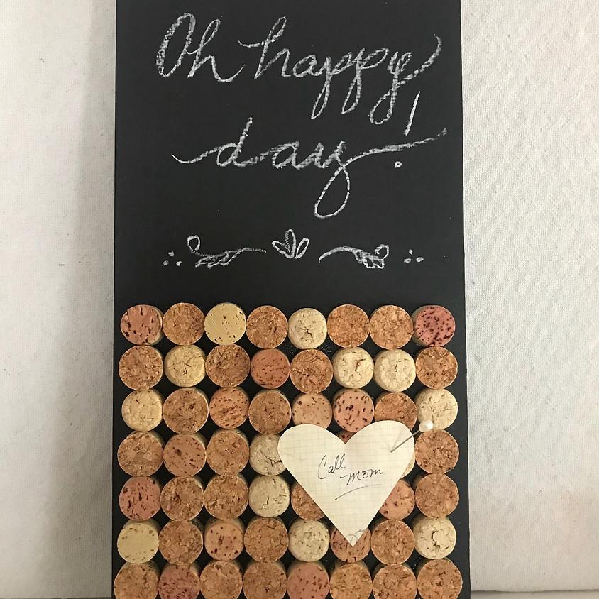 Cork and chalk mini message board