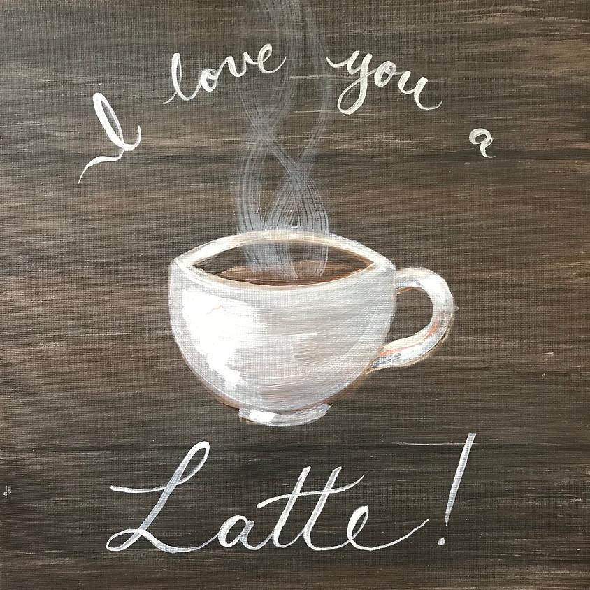 """Coffee Art"" - Acrylic Painting"