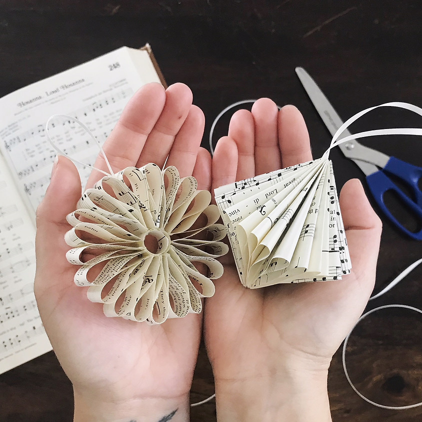 """""""Double the Ruffles"""" 2 Kinds of Paper Ornaments Class"""