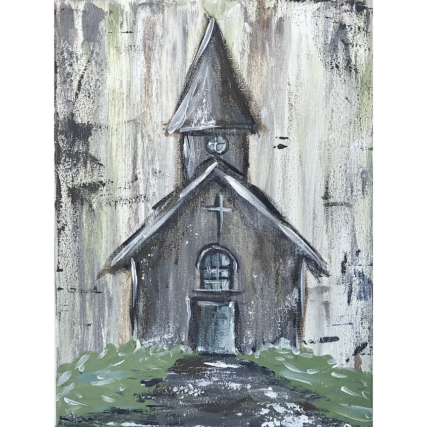 "Painting Class ""Rustic Church"""